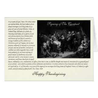 Mayflower Pilgrim Fathers - Signing of the Compact Greeting Card