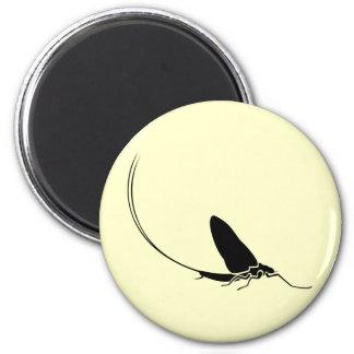 Mayfly 6 Cm Round Magnet