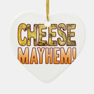Mayhem Blue Cheese Ceramic Heart Decoration