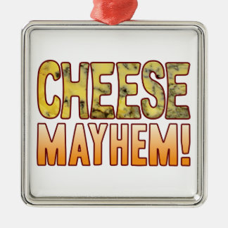Mayhem Blue Cheese Silver-Colored Square Decoration