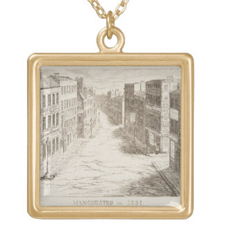 Mayhew's Great Exhibition of 1851: Manchester in 1 Gold Plated Necklace