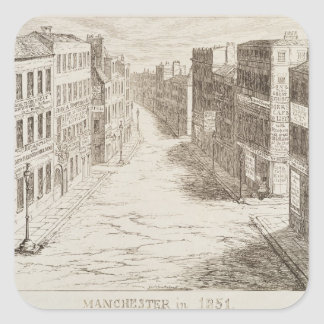 Mayhew's Great Exhibition of 1851: Manchester in 1 Square Sticker