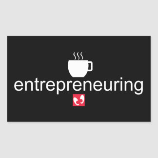 Mayniax Branding Entrepreneuring Black Rectangular Sticker