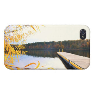 Mayo Lake Boat Dock 4/4s iPhone 4 Cover