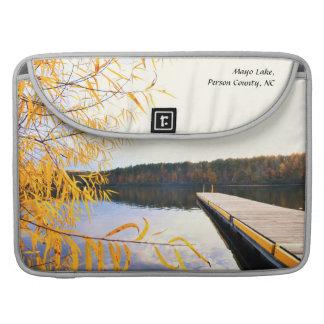 Mayo Lake Boat Dock MacBook Pro Sleeve