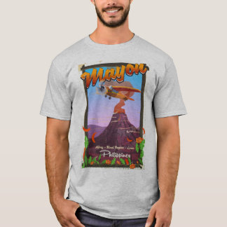 Mayon Volcano philippines adventure poster T-Shirt