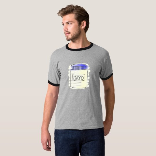 Mayonnaise Jar Pen and Chalk Drawing T-Shirt