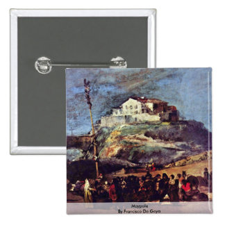 Maypole By Francisco De Goya 15 Cm Square Badge