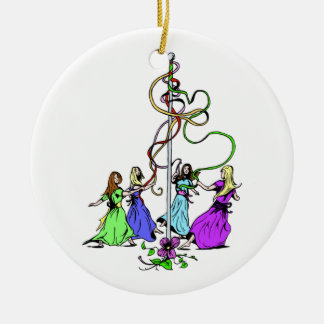 Maypole Dancers Christmas Ornament