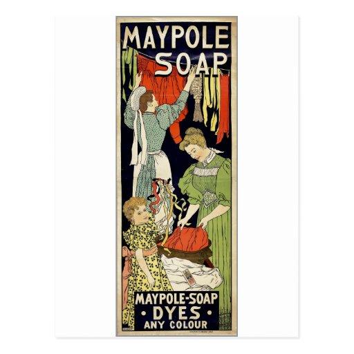 Maypole Soap Dyes Any Colour - Netherlands 1896 Postcards
