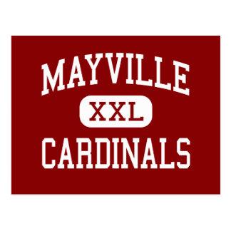 Mayville - Cardinals - High - Mayville Wisconsin Postcard