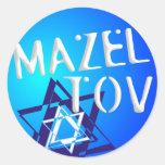 Mazal Tov Round Sticker