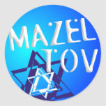 Mazal Tov Round Stickers