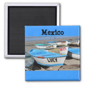 Mazatlan Fishing Boats Square Magnet