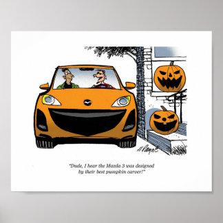 Mazda Pumpkin Face Poster