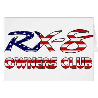 Mazda RX8 USA owners club Card
