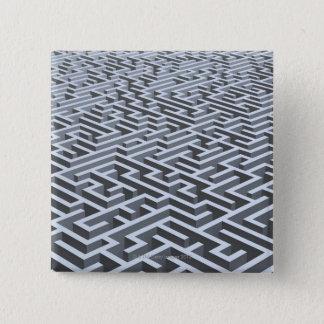 Maze 15 Cm Square Badge