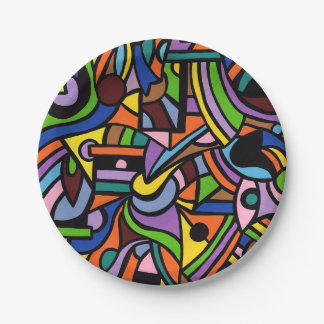 Maze 7 Inch Paper Plate