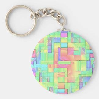 Maze Basic Round Button Key Ring
