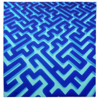 Maze Blue Napkin
