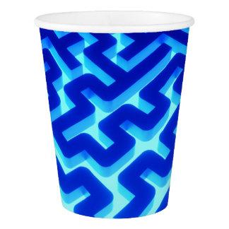 Maze Blue Paper Cup