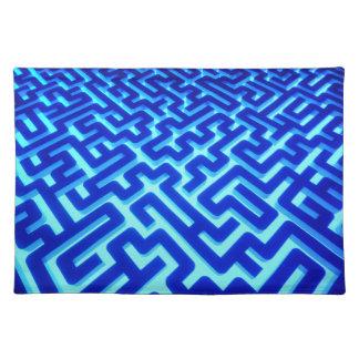 Maze Blue Placemat