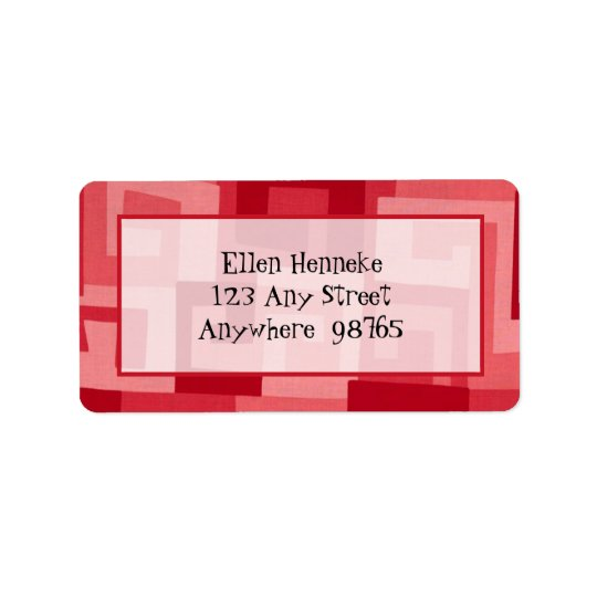 Maze Cherry Address Label