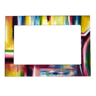 Maze design magnetic picture frame