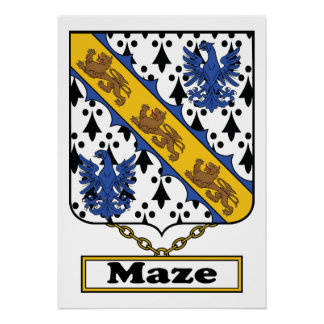 Maze Family Crest Posters