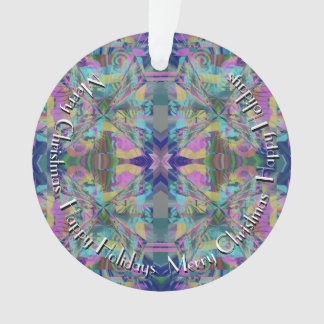 Maze of Colors with Text in Circle Ornament