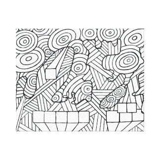 Maze of map canvas print coloring DIY doodle art