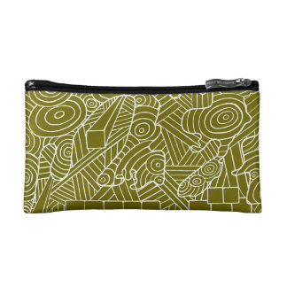 Maze of map cosmetic bag with cute doodle pattern