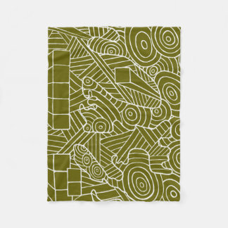 Maze of map fleece blanket with doodle map pattern