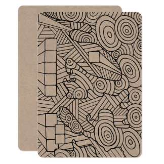 Maze of map invitation card coloring DIY doodle