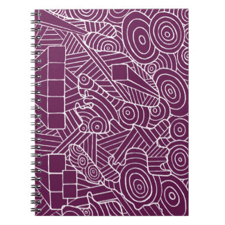Maze of map notebook with cute doodle design