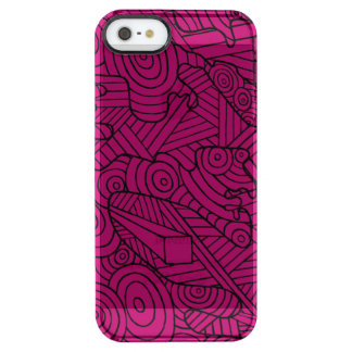 Maze of map see through phone case and doodle iPhone 6 plus case