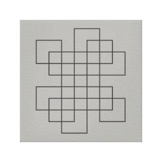 Maze on Grey Canvas Print
