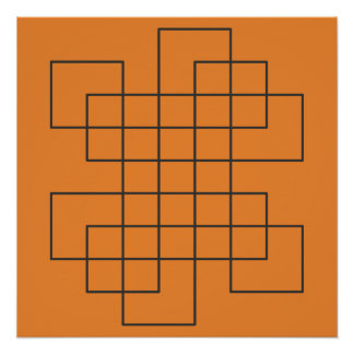 Maze on Orange Poster