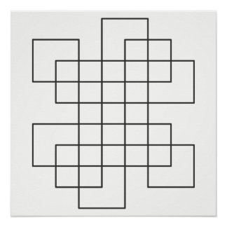 Maze on White Poster
