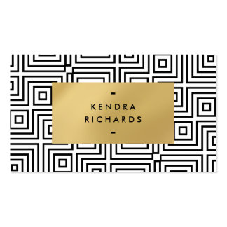 Maze Pattern with Faux Gold Plaque Pack Of Standard Business Cards