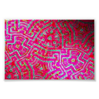 Maze Red 1 Poster