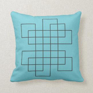 Maze Robins Egg Blue Cushion