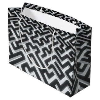 Maze Silver Black Large Gift Bag