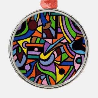 Maze Silver-Colored Round Decoration