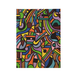 Maze Wood Poster
