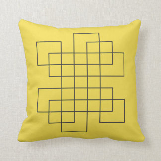Maze Yellow Cushion