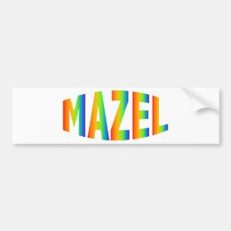 MAZEL BUMPER STICKER