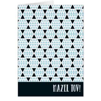 Mazel Tov Aztec Blue Card