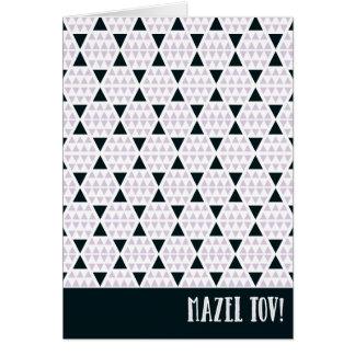 Mazel Tov Aztec Pink Card