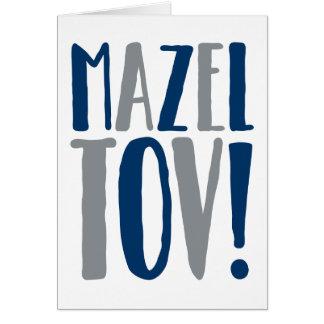 Mazel Tov Block Navy + Grey Card